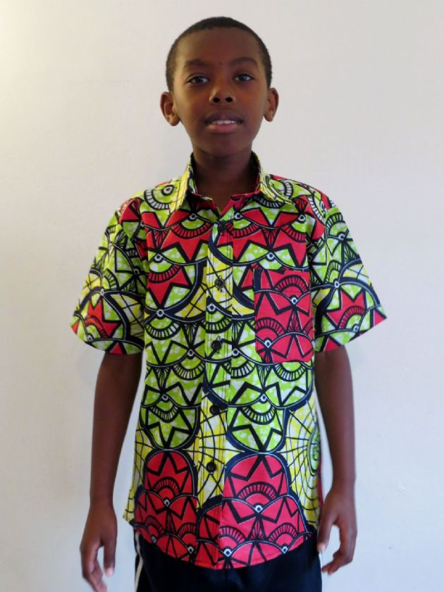 Boys Short Sleeved Shirt 'Star Flower'